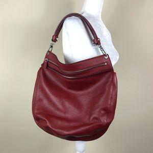 FURLA | Red Leather Hobo Shoulder Bag Zippered